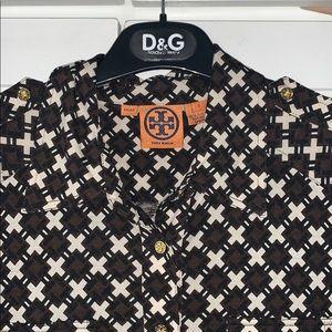 Tory Burch button down blouse shirt
